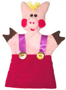 Готовая кукла-перчатка Поросёнок в комбинезончике