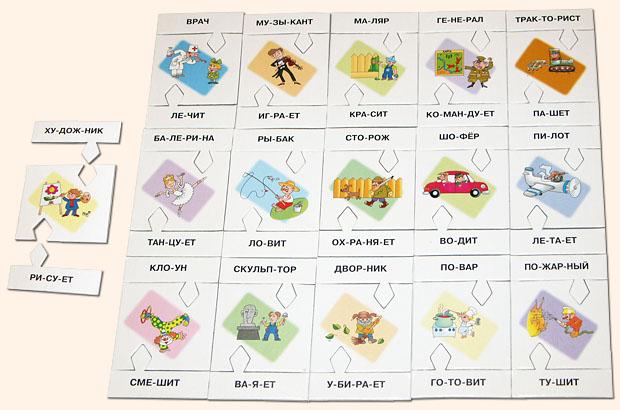 Карточки для детей профессии
