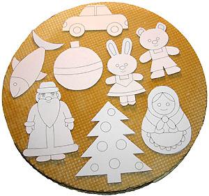 Шаблоны игрушек на вафлях