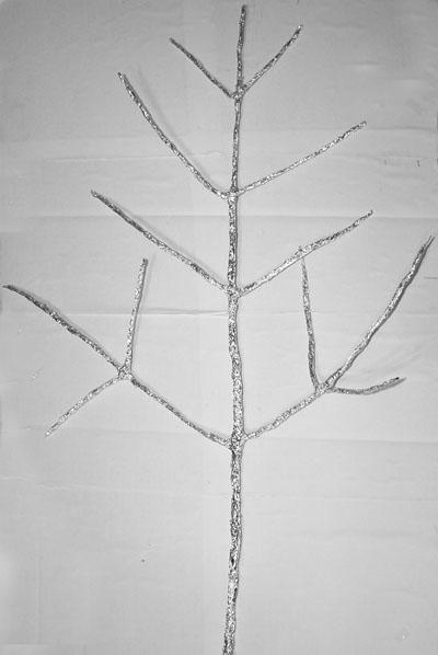Ёлка (еловая ветка) из фольги. Мастер-класс Олеси Емельяновой