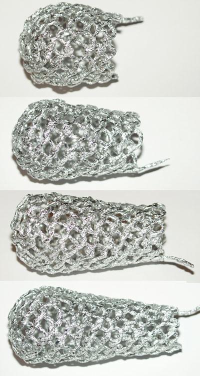 Шишка с бантиком - плетение из