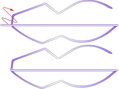 Змея - плетение из фольги
